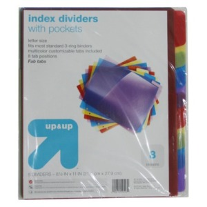 dividers with pockets