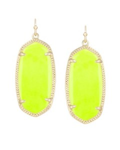 neon yellow elle earrings