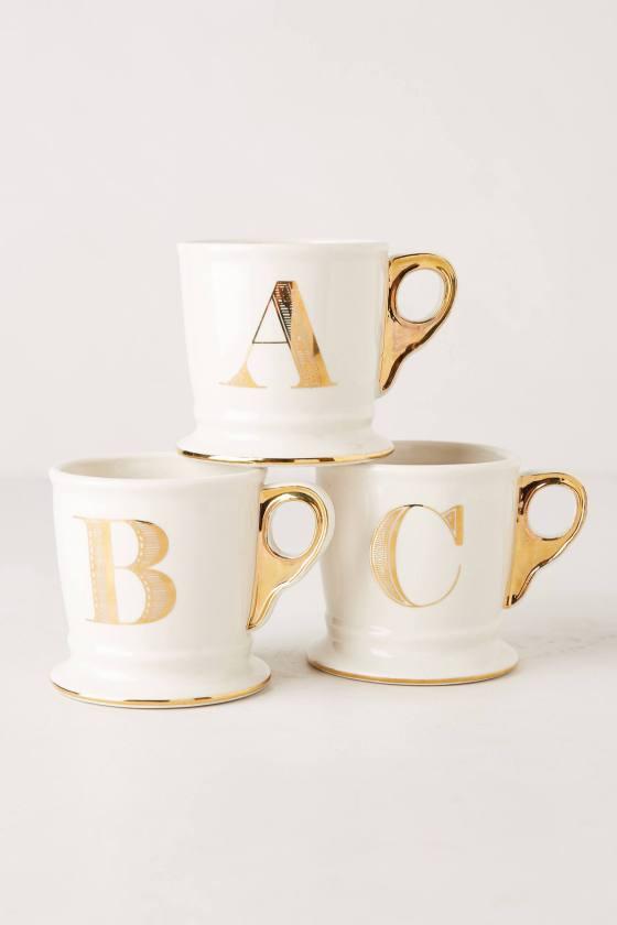 anthro gold mug